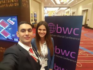 Onurhan and Bita at Blockchain World Conference